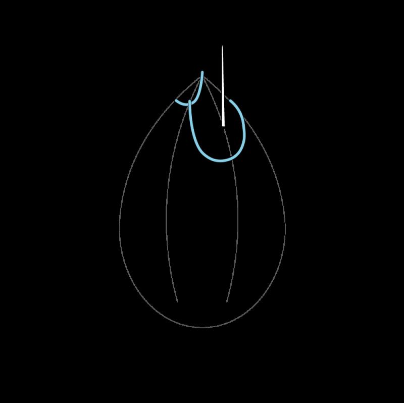 Cretan stitch method stage 6 illustration