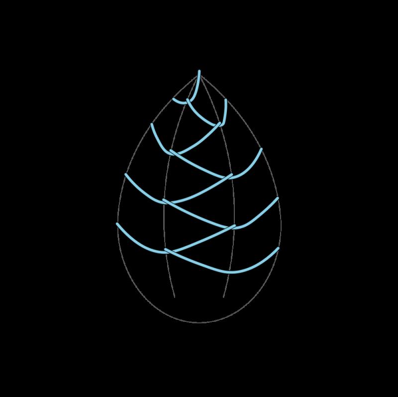 Cretan stitch method stage 8 illustration