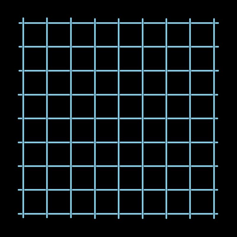 Cross bar filling trellis method stage 1 illustration