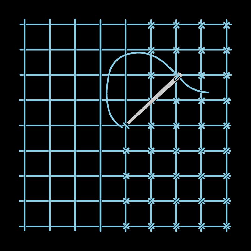 Cross bar filling trellis method stage 2 illustration
