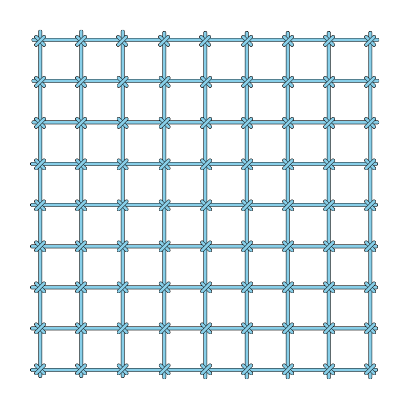 Cross bar filling trellis method stage 3 illustration