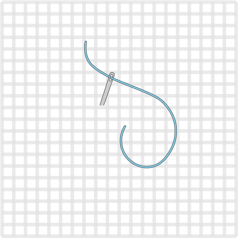 Cross stitch method stage 1 illustration
