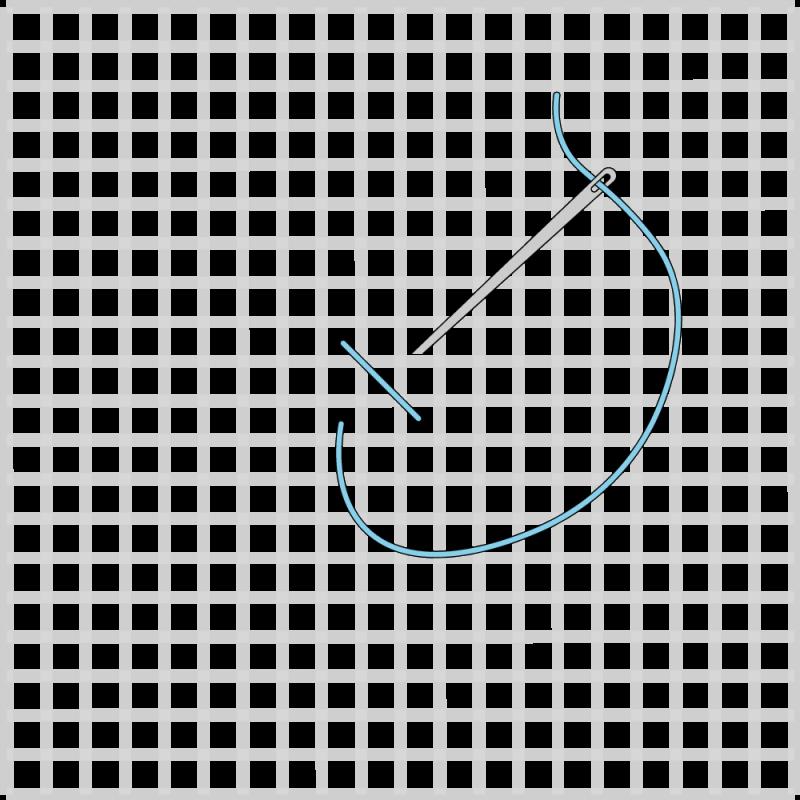 Cross stitch method stage 3 illustration