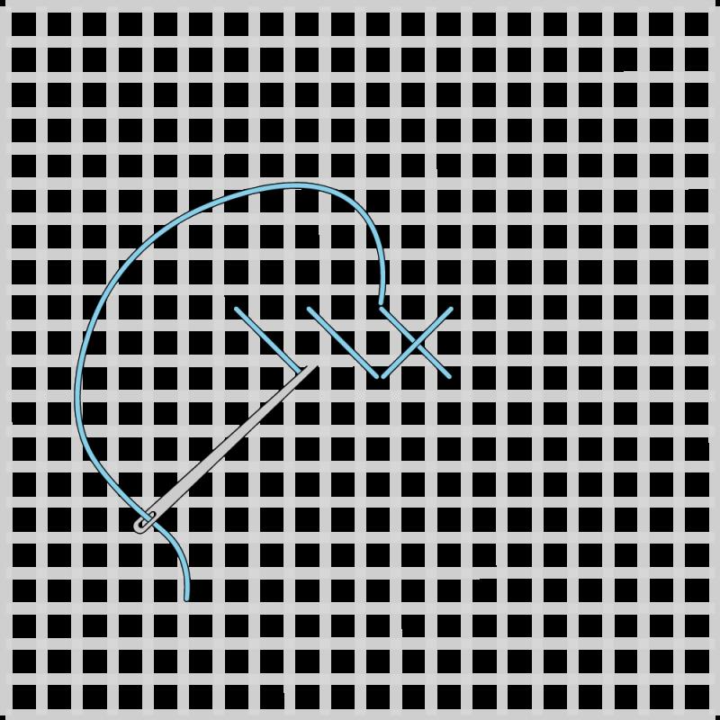 Cross stitch method stage 6 illustration