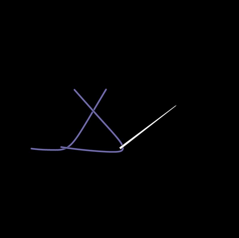Crossed buttonhole stitch method stage 4 illustration