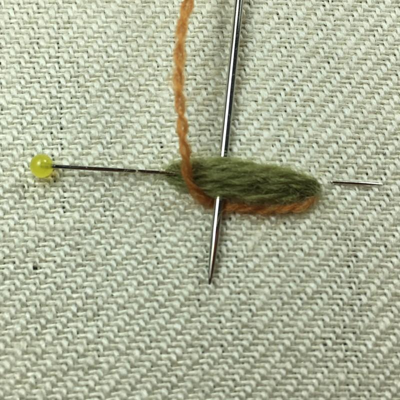 Detached buttonhole bars method stage 4 photograph