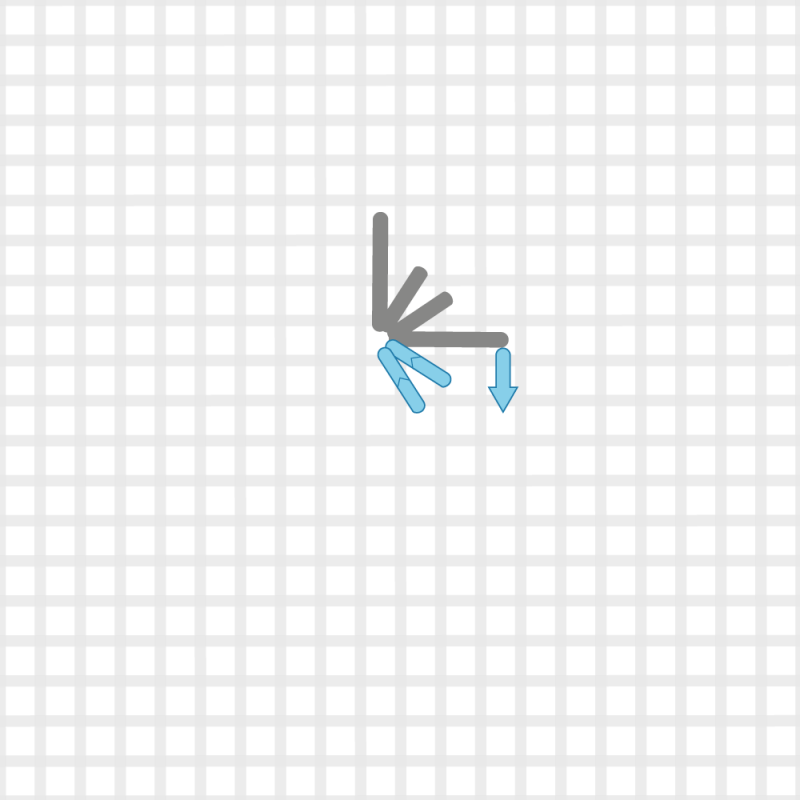Diamond eyelet (pulled thread) method stage 3 illustration