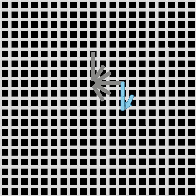 Diamond eyelet (pulled thread) method stage 4 illustration