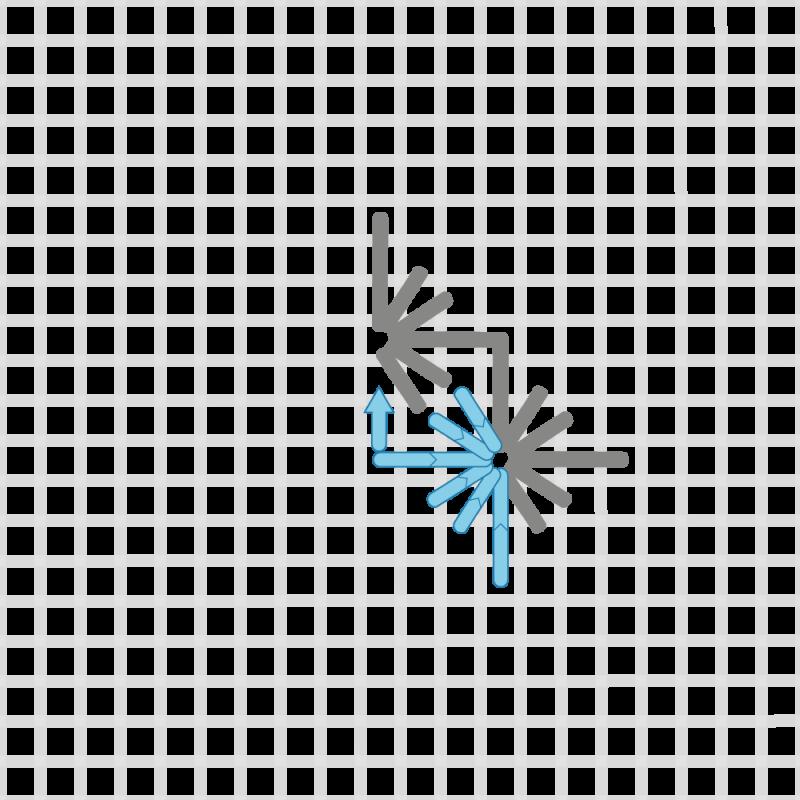 Diamond eyelet (pulled thread) method stage 6 illustration