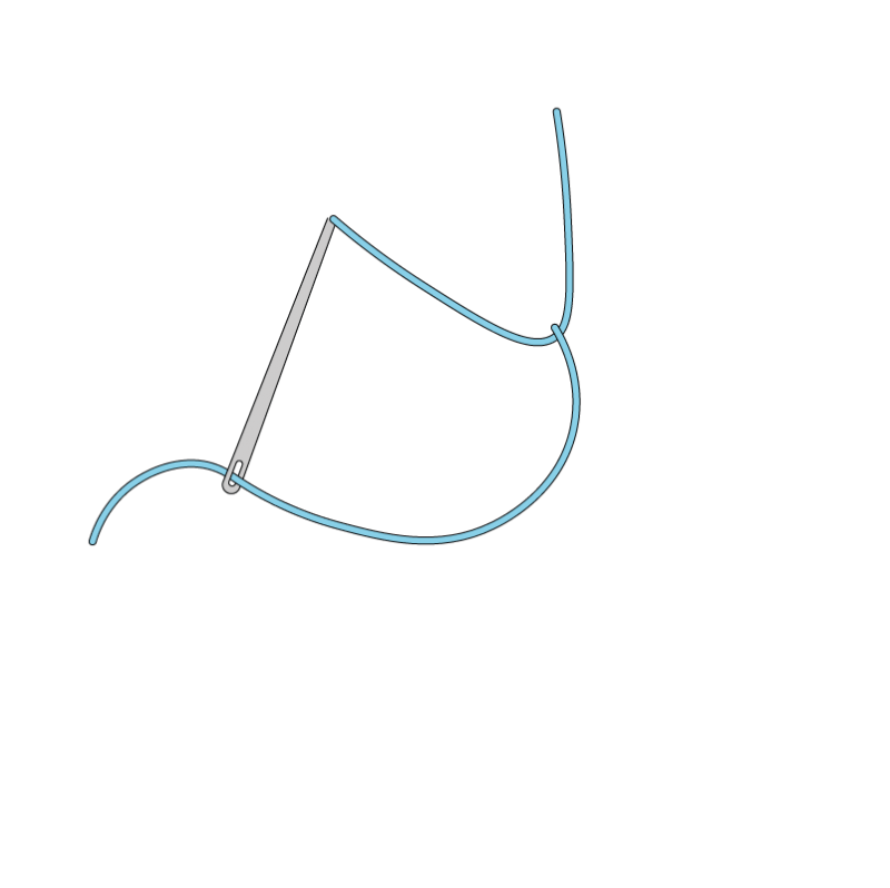 Double chain stitch method stage 3 illustration