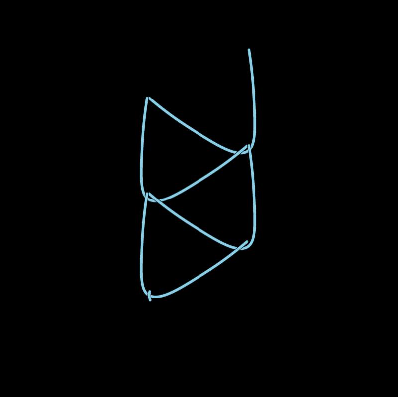 Double chain stitch method stage 8 illustration