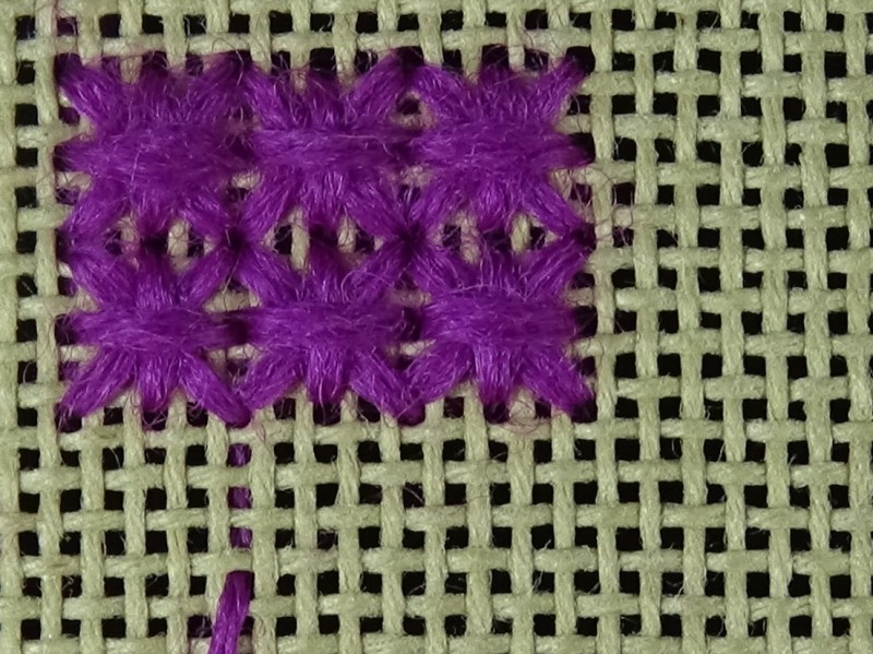 Double cross stitch method stage 9 photograph