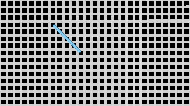 Double cross stitch method stage 1 illustration