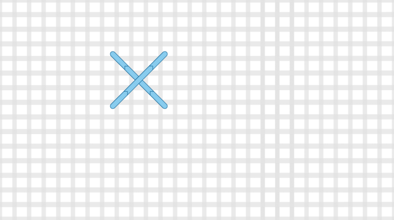 Double cross stitch method stage 2 illustration