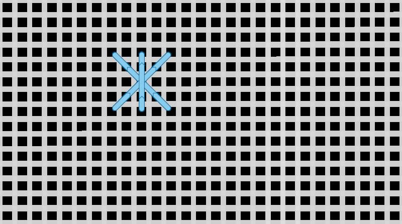 Double cross stitch method stage 3 illustration