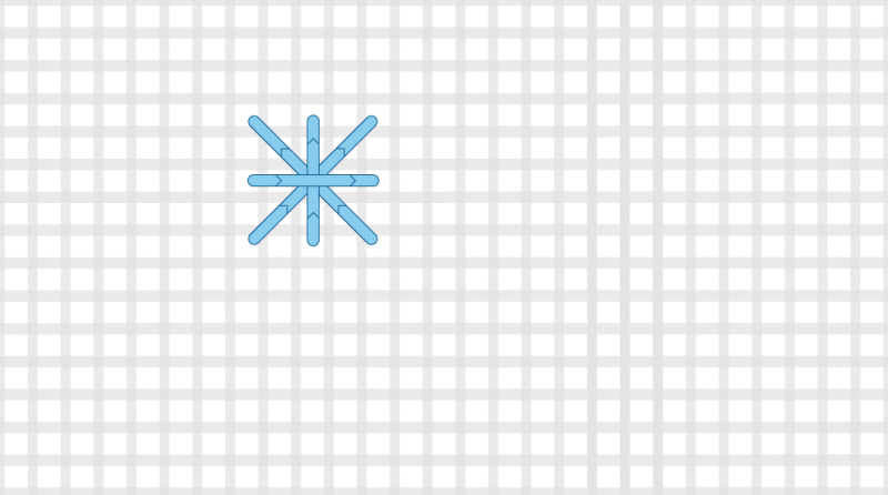 Double cross stitch method stage 4 illustration