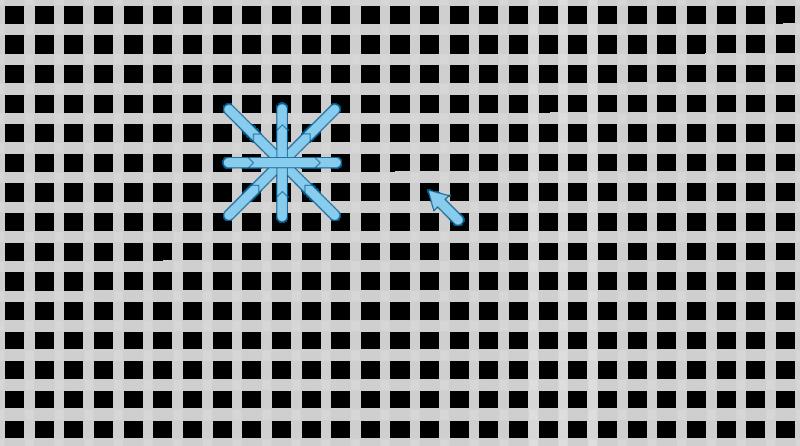 Double cross stitch method stage 5 illustration