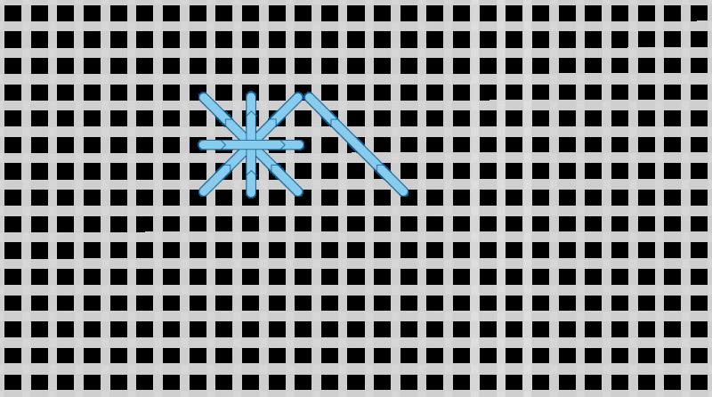 Double cross stitch method stage 6 illustration