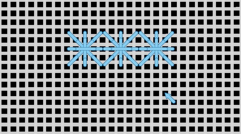 Double cross stitch method stage 7 illustration