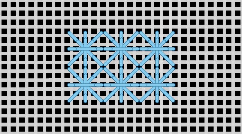 Double cross stitch method stage 9 illustration