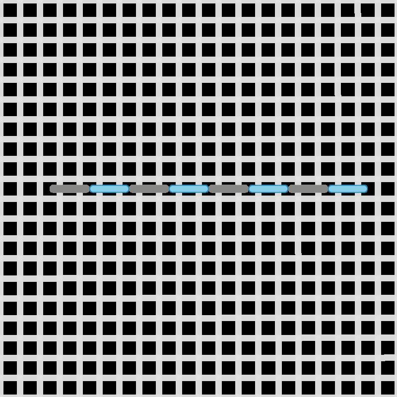 Double running stitch method stage 6 illustration