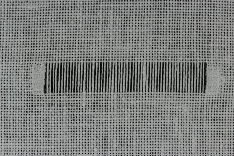 Double twist stitch method stage 1 photograph