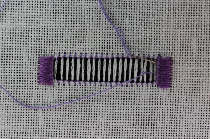 Double twist stitch method stage 4 photograph
