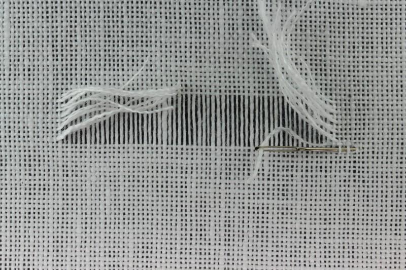 Drawn thread preparation method stage 10 photograph