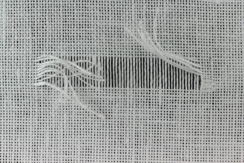 Drawn thread preparation method stage 11 photograph
