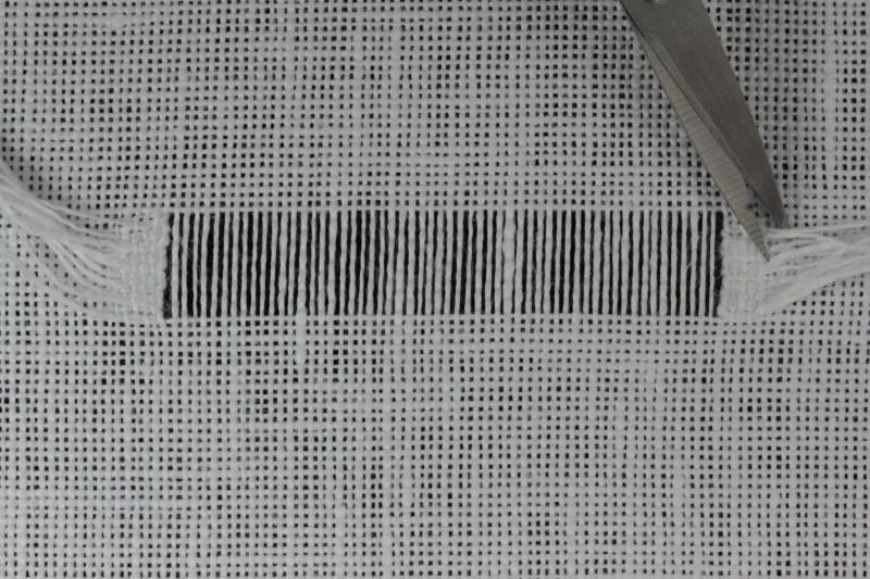 Drawn thread preparation method stage 12 photograph