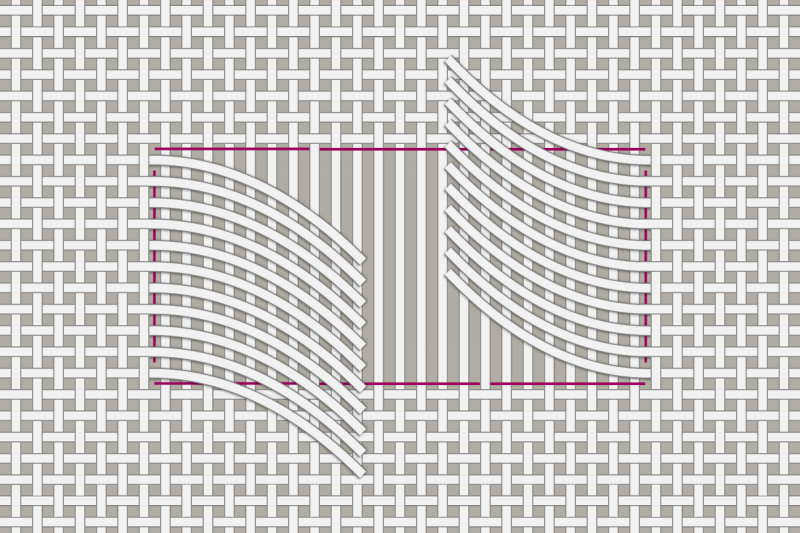 Drawn thread preparation method stage 8 illustration