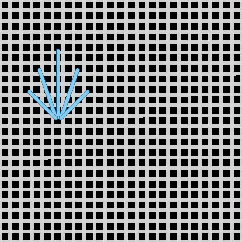 Fan (pattern) method stage 1 illustration
