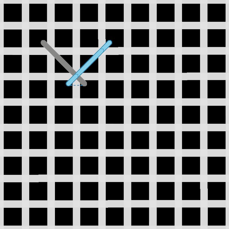 Fern stitch (canvaswork) method stage 2 illustration