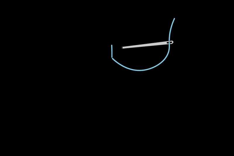 Fern stitch method stage 2 illustration