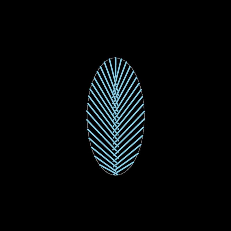 Fishbone stitch method stage 5 illustration