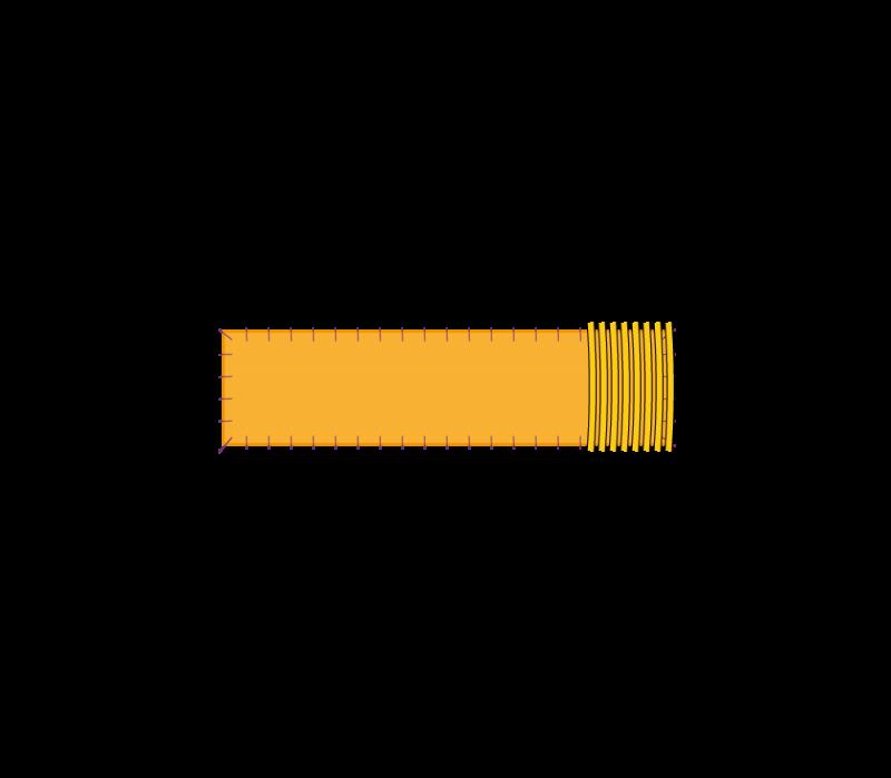 Flat cutwork (goldwork) method stage 7 illustration