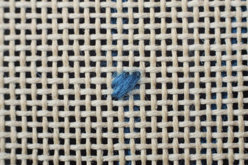 Diagonal cashmere stitch method stage 2 photograph