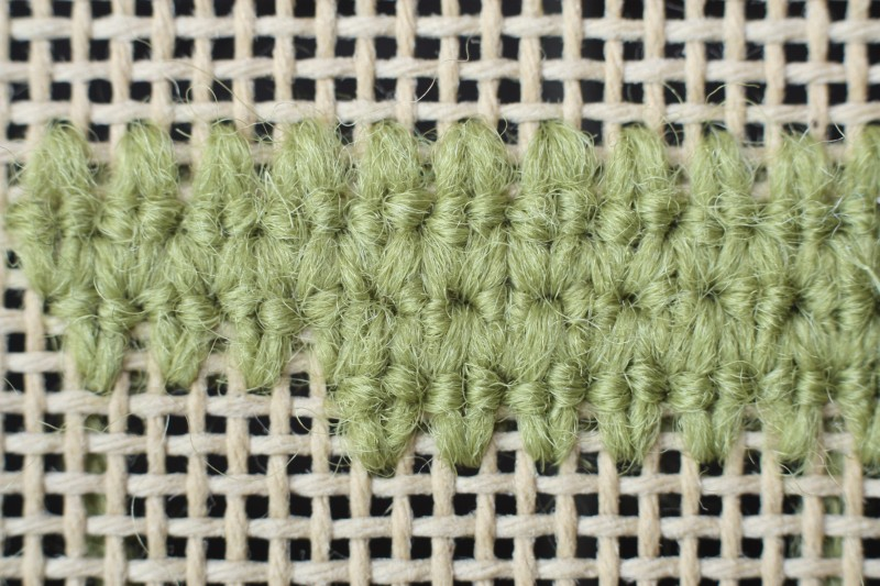 French stitch method stage 4 photograph