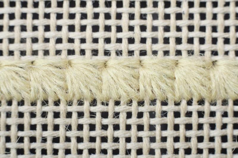 Fan stitch method stage 4 photograph