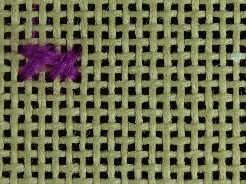 Greek stitch method stage 3 photograph