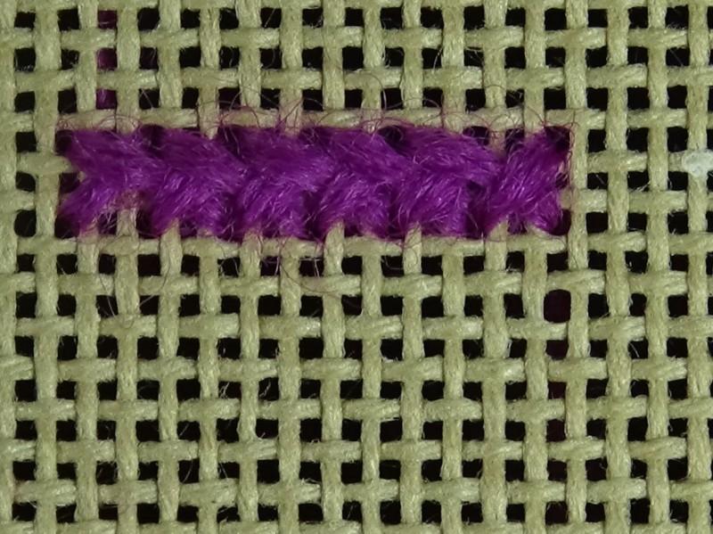 Greek stitch method stage 5 photograph