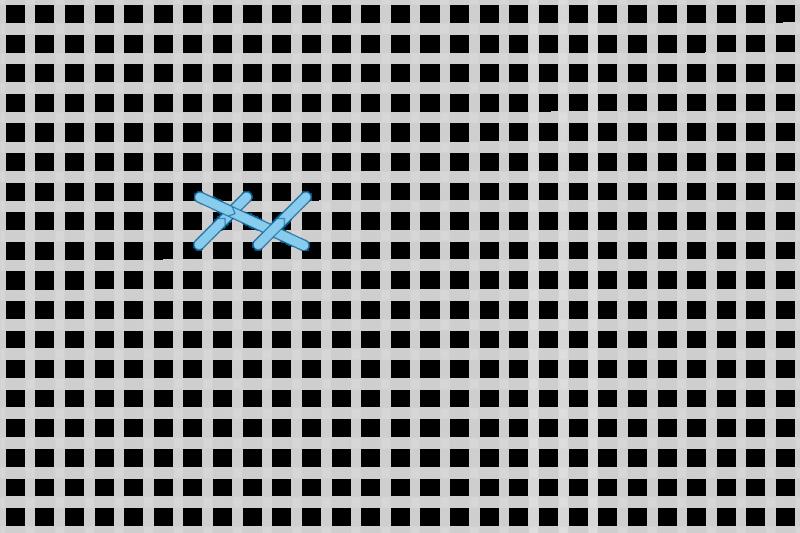 Greek stitch method stage 3 illustration