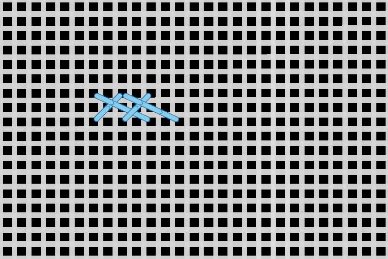Greek stitch method stage 4 illustration