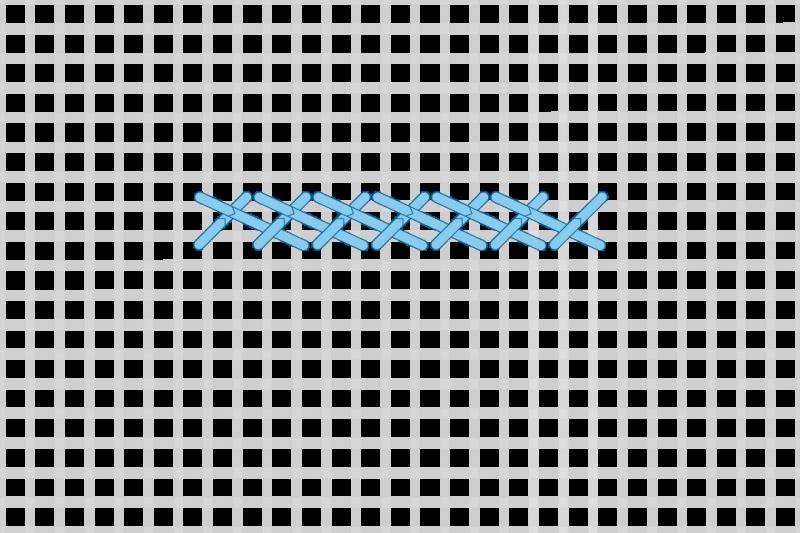 Greek stitch method stage 5 illustration