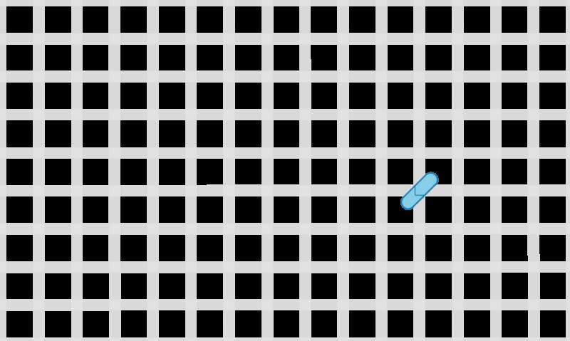 Half cross tent stitch method stage 1 illustration