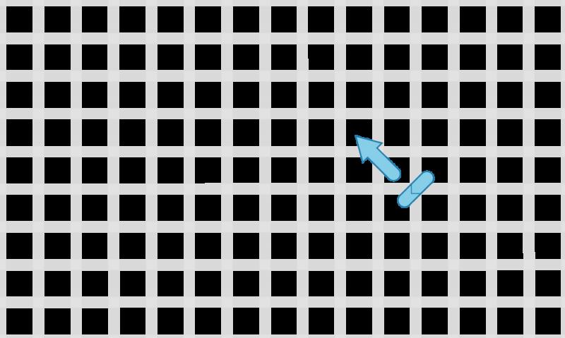 Half cross tent stitch method stage 2 illustration