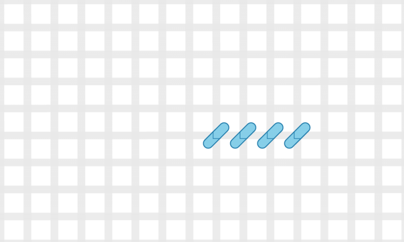 Half cross tent stitch method stage 3 illustration
