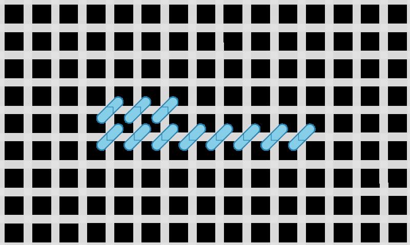 Half cross tent stitch method stage 4 illustration