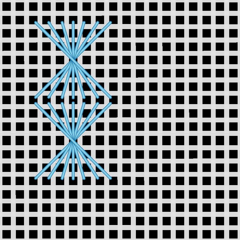 Half Rhodes stitch method stage 4 illustration