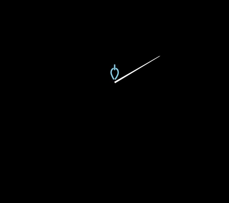 Heavy chain stitch method stage 1 illustration
